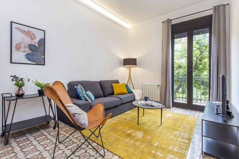 Luksusowy apartament z 2 sypialniami do wynajęcia w Poble-Sec, Barcelona