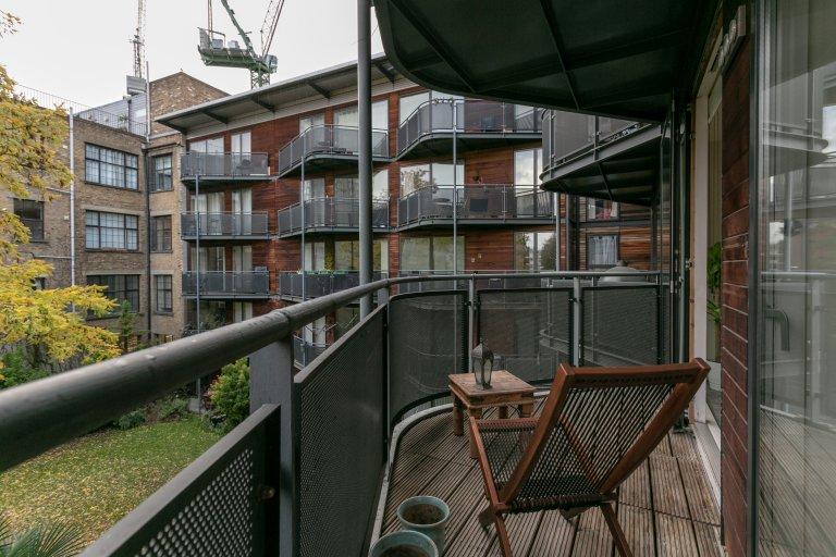 Mieszkanie z 1 sypialnią do wynajęcia w Shoreditch we wschodnim Londynie