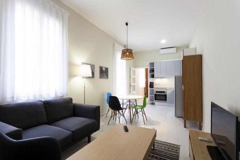 Jasny apartament z 1 sypialnią do wynajęcia w Gracia, Barcelona