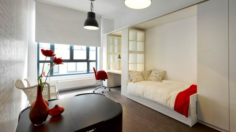 Studio for rent in residence, Ixelles, Brussels