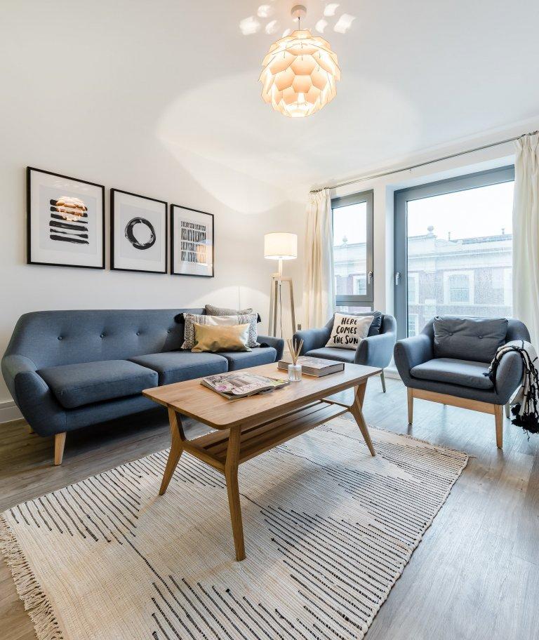 Elegante apartamento de 2 quartos para alugar em Dalston, Londres