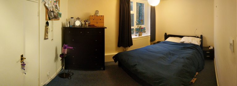 Double Bed in Bright and Spacious Room for Rent in Battersea
