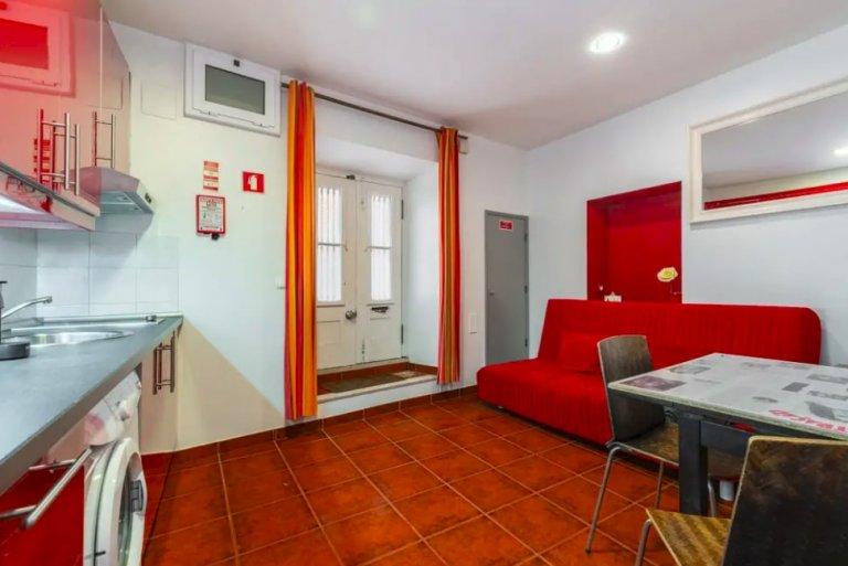 Jasne 1-pokojowe mieszkanie do wynajęcia w Mouraria, Lizbona