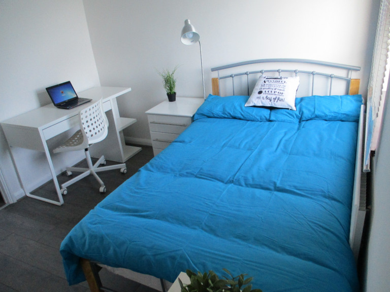 Double Bed in Furnished rooms to rent in a 4-bedroom apartment in Peckham, Travelcard Zone 2