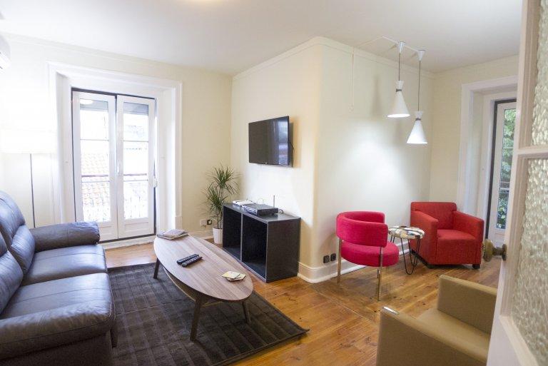 Elegante apartamento de 4 dormitorios en alquiler en Principe Real