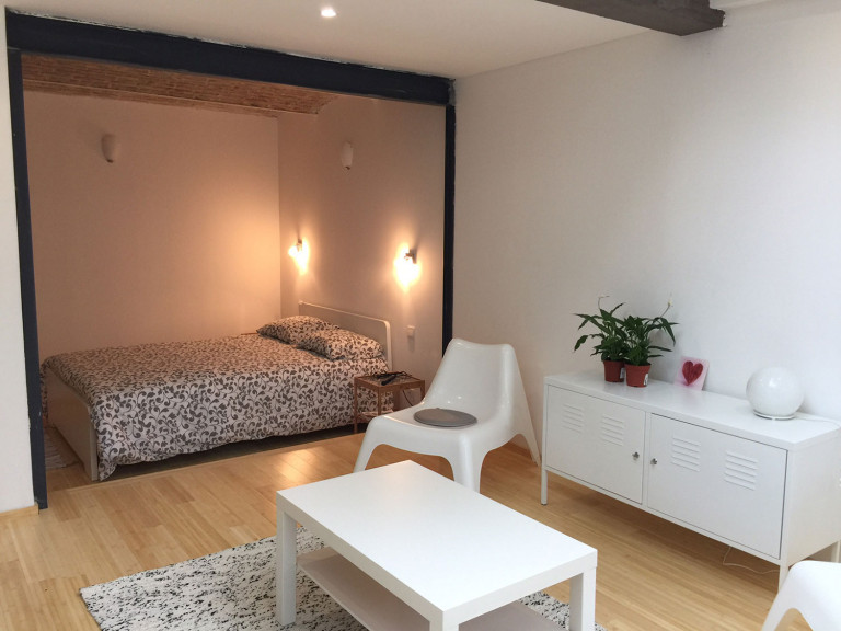 Bedroom 2 with double bed and heating