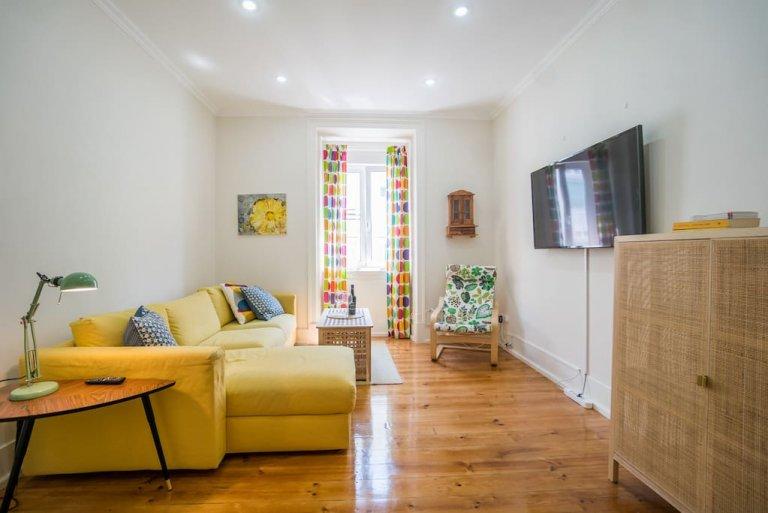 Arroios, Lizbon kiralık kusursuz 3 yatak odalı daire