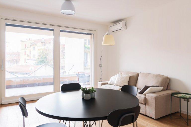 Apartamento de 2 quartos brilhante para alugar em Sarpi, Milão