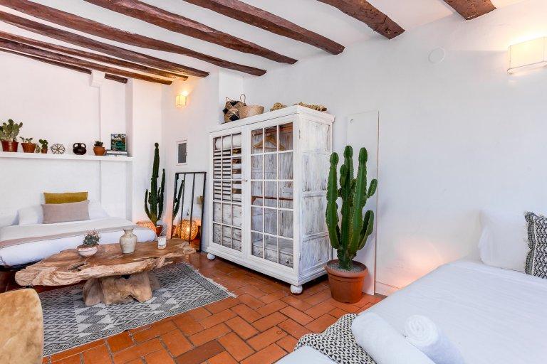 Eklektyczny apartament typu studio do wynajęcia w El Born, Barcelona