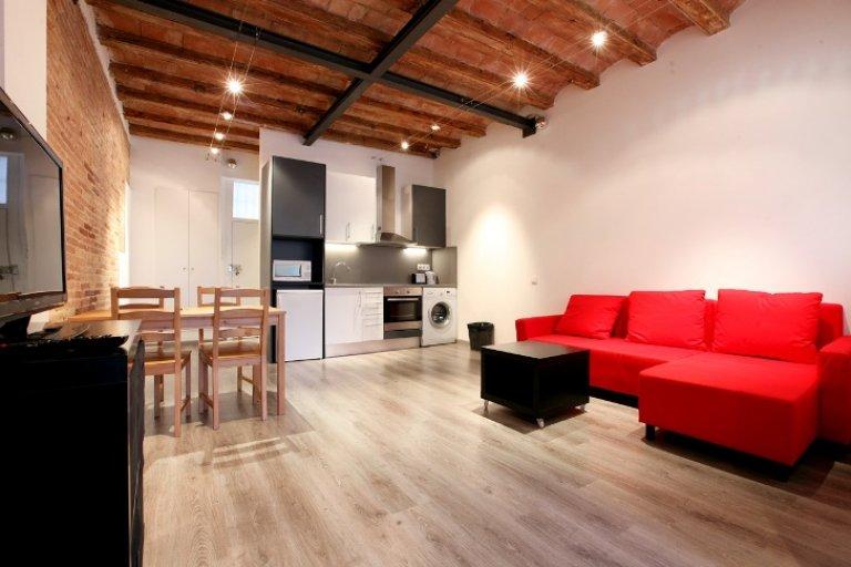 Nowoczesne 1-pokojowe mieszkanie do wynajęcia, El Raval, Barcelona