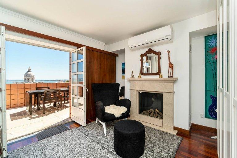 Apartamento de 1 quarto para alugar em Graça, Lisboa