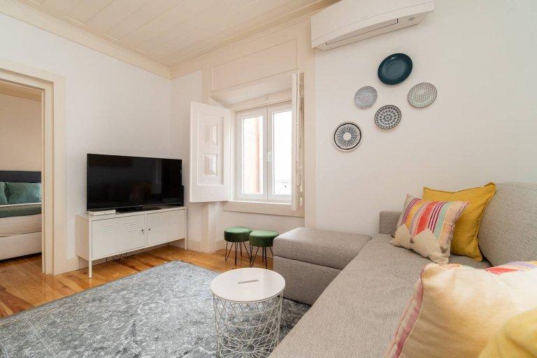 Apartamento moderno de 1 quarto para alugar em Arroios, Lisboa