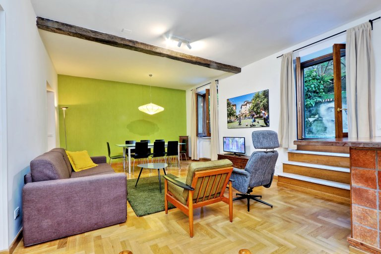 Spacieux appartement de 3 chambres à louer à Trastevere, Rome