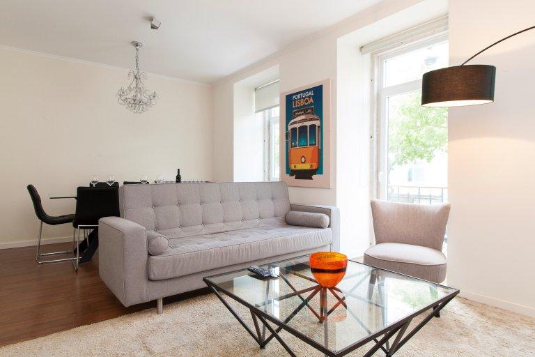 Fantastico appartamento con 3 camere da letto in affitto ad Arroios, Lisbona
