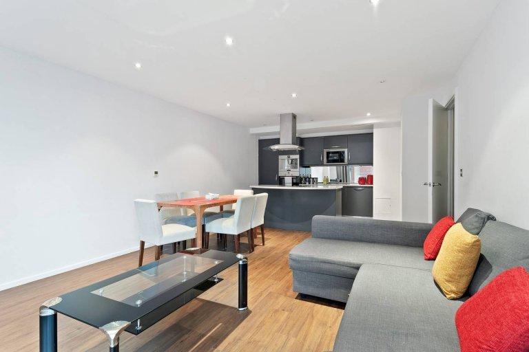 Stylowe 2-pokojowe mieszkanie do wynajęcia w Beckton w Londynie