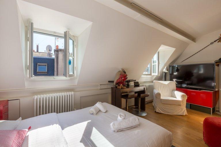 Appartamento monolocale eclettico in affitto nel 4 ° arrondissement