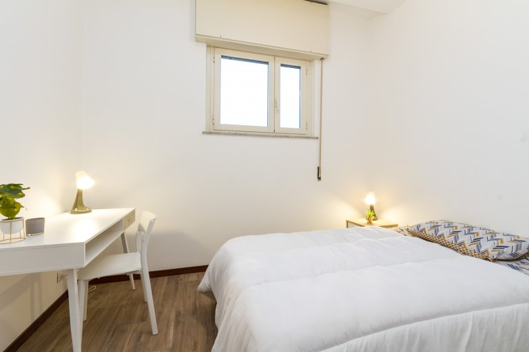 Double room for rent, 5-bedroom apartment, Ticinese, Milan