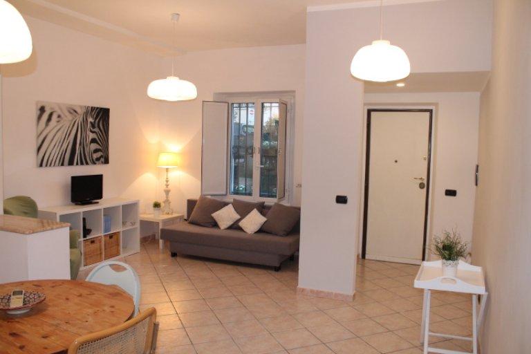 Trendy 1-bedroom apartment for rent in Trastevere, Rome