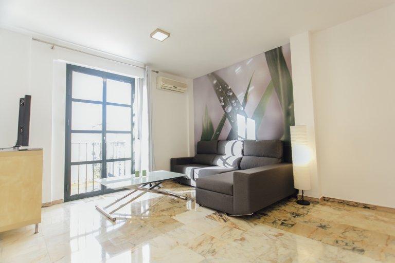 Sonnige 2-Zimmer-Wohnung zur Miete in Alameda, Sevilla