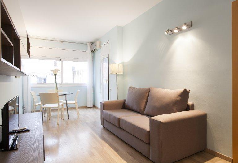Poble-sec, Barcelona, kiralık 2 yatak odalı aydınlık daire