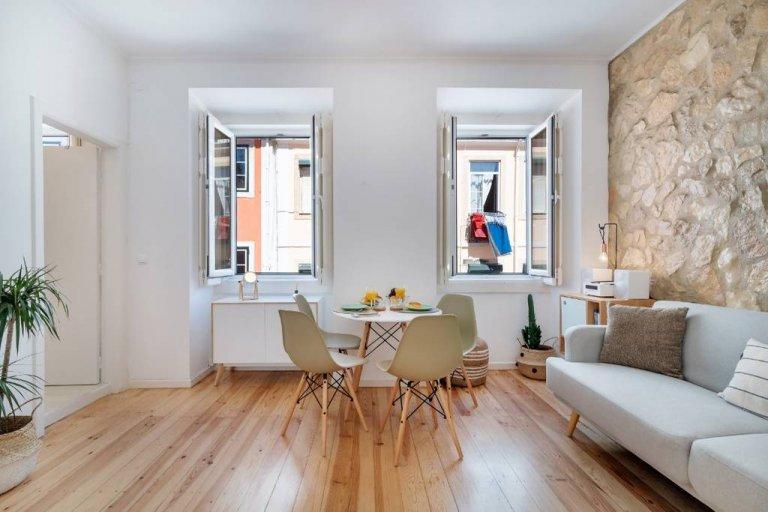 Apartamento de 1 quarto elegante para alugar em Estrela, Libson