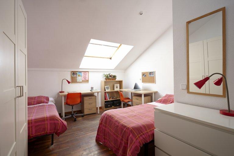 Quarto para alugar em residência estudantil em Malasaña, Madrid