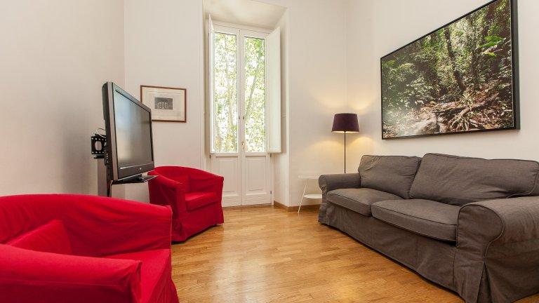 Einfache 2-Zimmer-Wohnung zur Miete in Prati, Rom