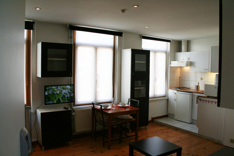 Furnished studio apartment for rent in Jette, Brussels