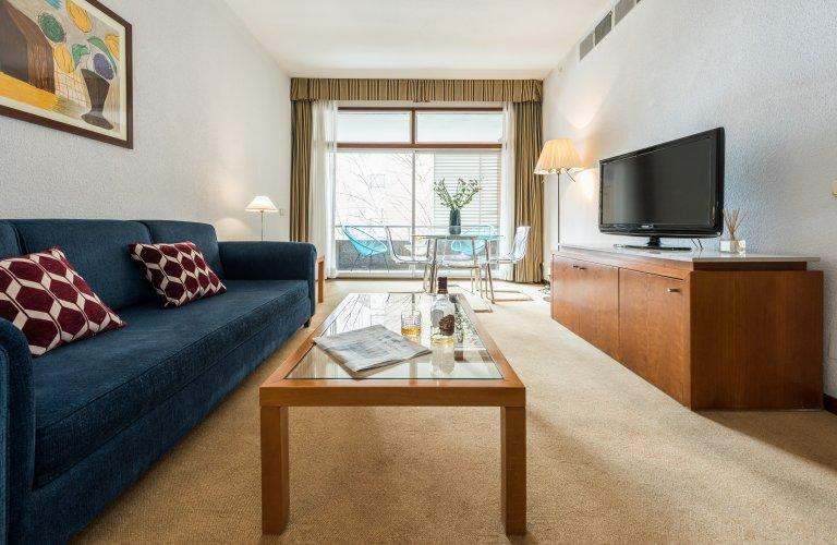 Moderne 1-Zimmer-Wohnung zur Miete in Chamartín, Madrid