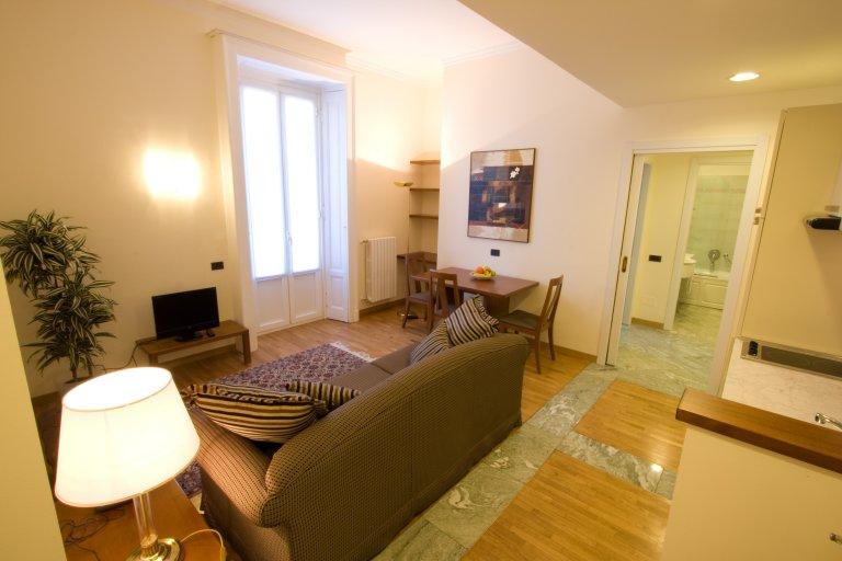 Apartamento de 1 quarto confortável para alugar em Centrale, Milão