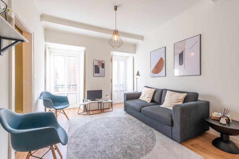 Moderne 1-Zimmer-Wohnung zur Miete in Arroios, Lissabon
