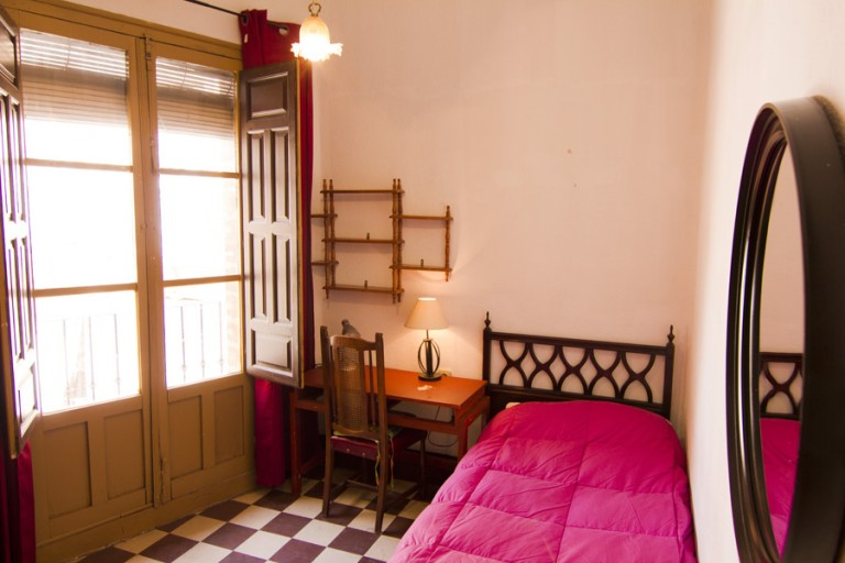 Bedroom 4 with Single Bed and Balcony