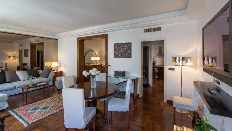 2-Zimmer-Wohnung mit Balkon in Tor di Quinto zu vermieten