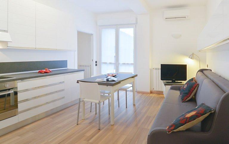Apartamento de 1 quarto elegante e moderno para alugar em Bovisa