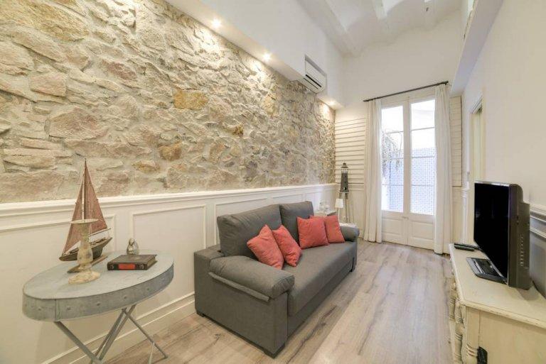Hip-apartament z 1 sypialnią do wynajęcia w Gràcia, Barcelona