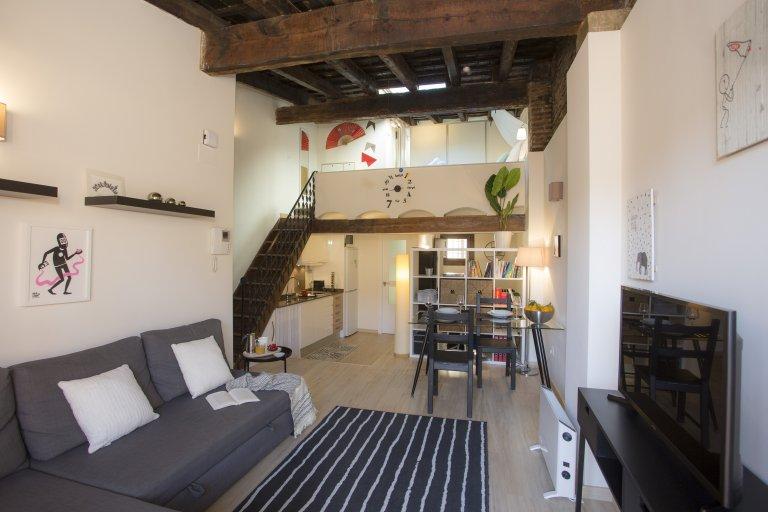 Moderno appartamento con 1 camera da letto in affitto a Ciutat Vella