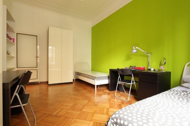 Cama em quarto em apartamento em Città Studi, Milan