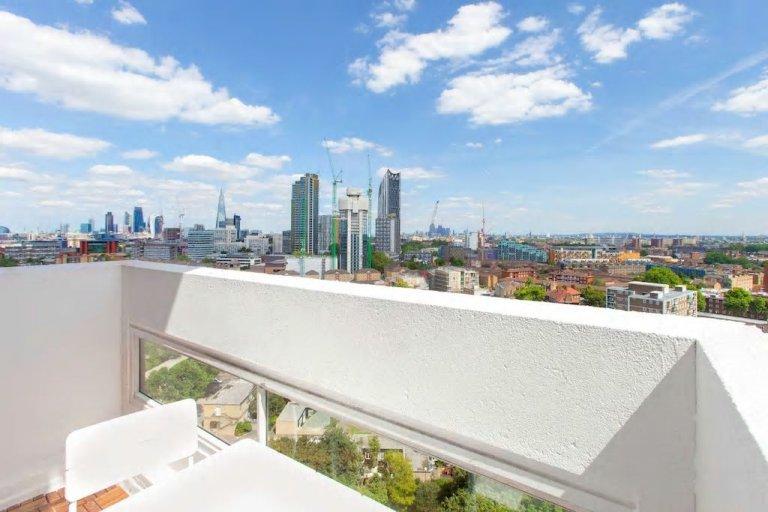 Apartamento de 2 quartos com terraço para alugar em Lambeth, Londres