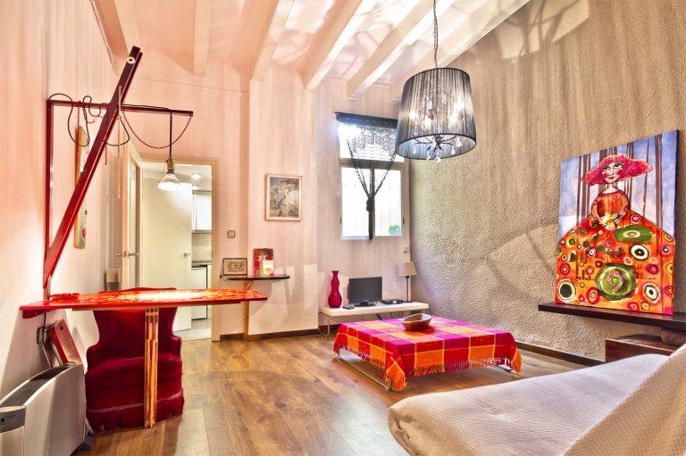 Appartement artistique avec 1 chambre à louer à Barcelone.