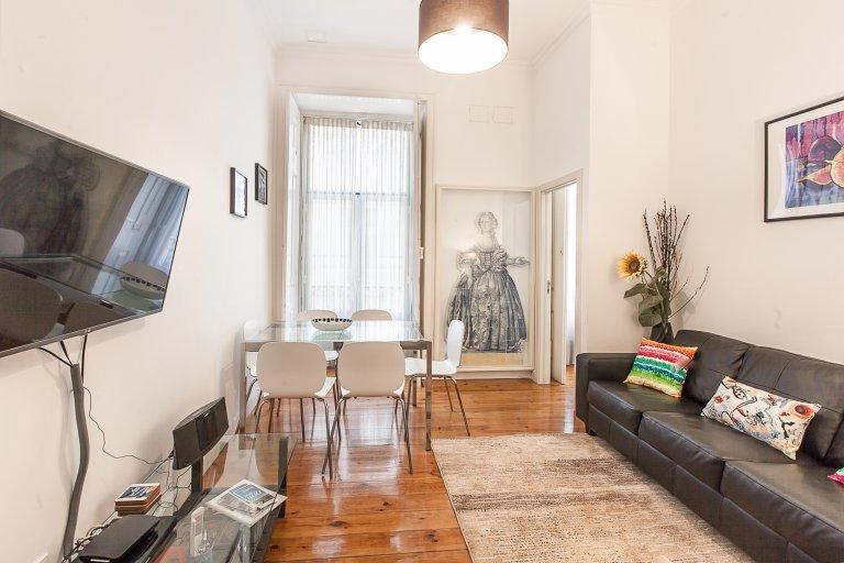 Appartement élégant de 3 chambres à louer à Rossio, Lisbonne