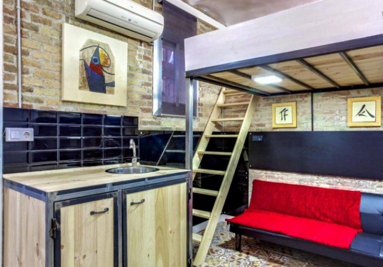 Apartamento de estúdio para alugar em Sant Martí em Barcelona