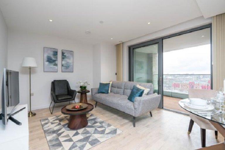 Elegancki apartament z 2 sypialniami do wynajęcia w Kings Cross w Londynie