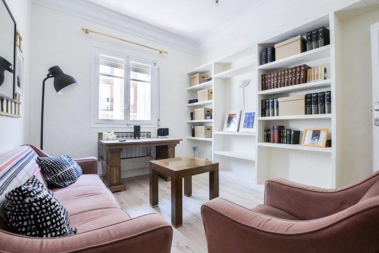 Confortável apartamento de 4 quartos para alugar em Chamartín, Madrid