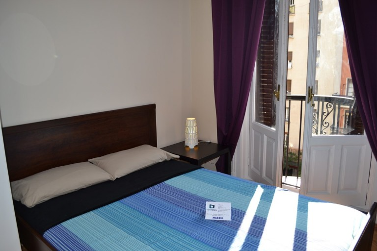 Room 1 Double bed and balcony