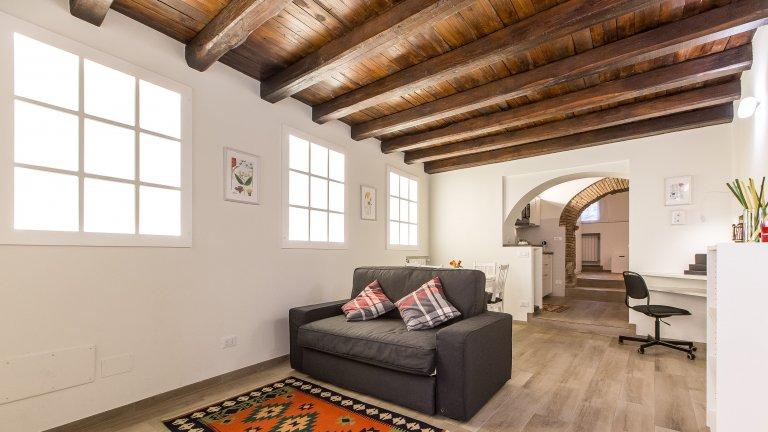 Studio-Wohnung zur Miete in Trastevere, Rom