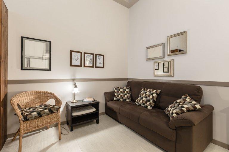 Apartamento de 1 quarto para alugar em Turro, Milão