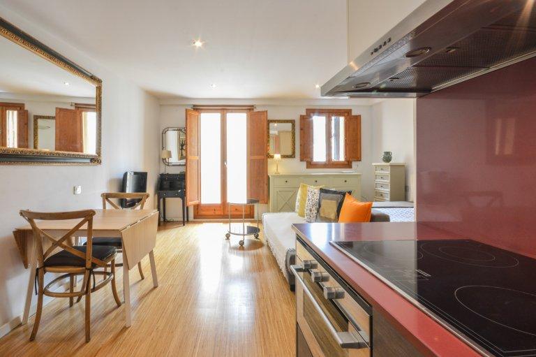 Studio z balkonem do wynajęcia w El Raval, Barcelona