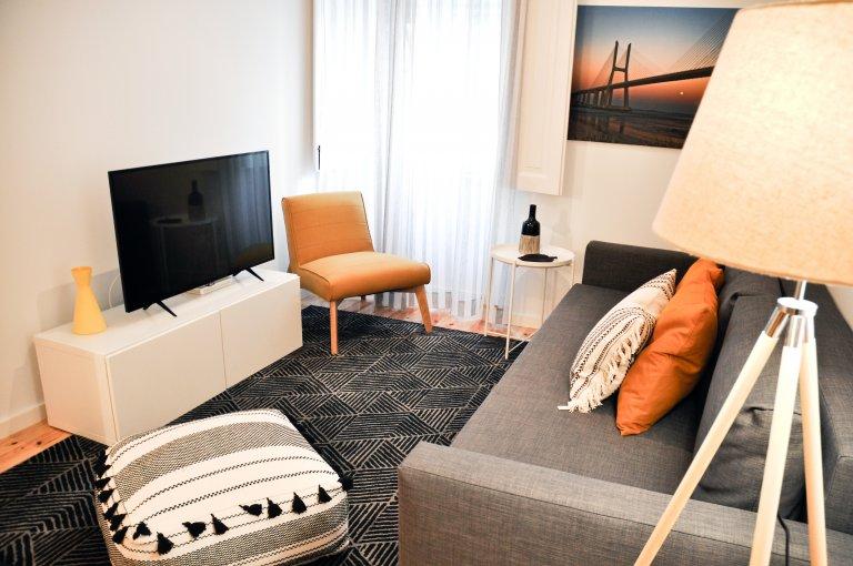 Arroios, Lizbon kiralık pastoral 1 yatak odalı daire