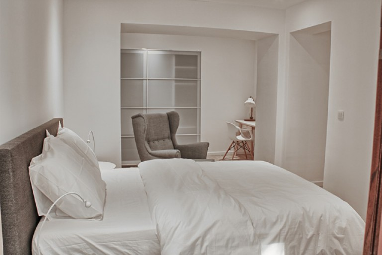 Bedroom 2 with double bed, ensuite and balcony