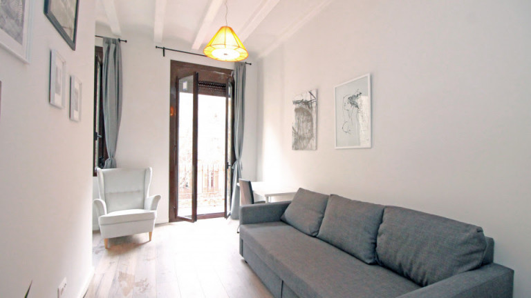 Sunny studio apartment for rent - Santo Antoni, Barcelona